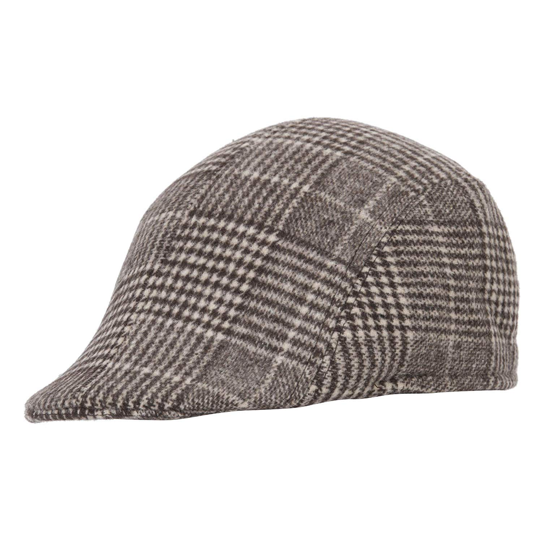 533c3e38156 Indian Heritage Men s Woollen Fitted Flat Flexfit Golf Hat Cap (Brown