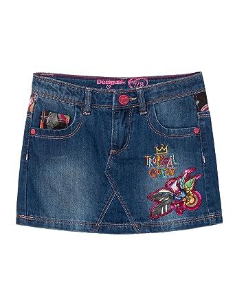 dfdc31dbb Amazon.com: Desigual Girls' Denim Skirt Gargalla, Sizes 5-14 (13/14 ...
