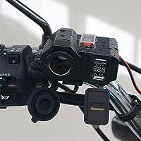 Motocicleta Impermeable Cargador USB 5V 2.1A/2.1A Encendedor