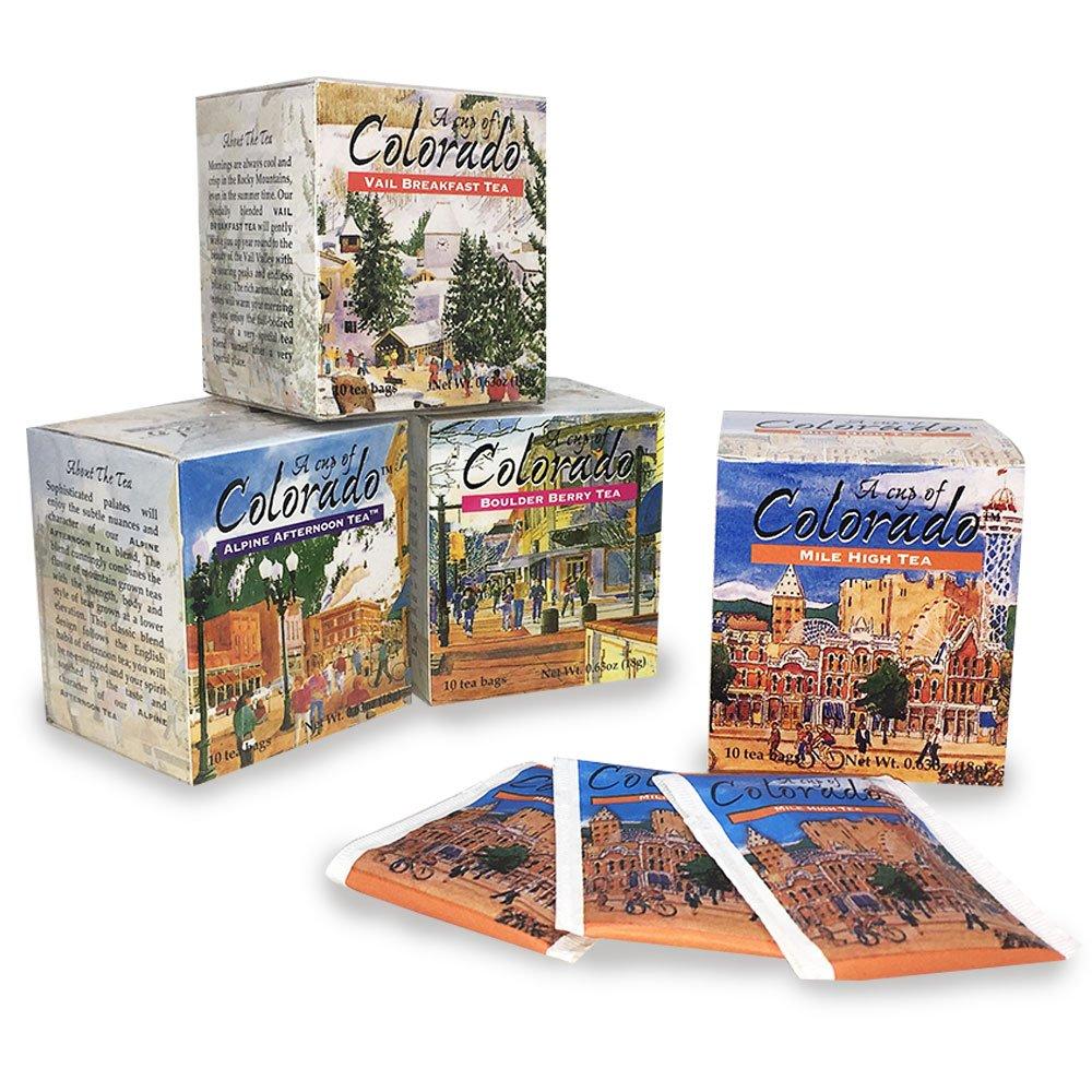 A Cup of Colorado Tea Collection (4 flavors, 10 tea bags per flavor)