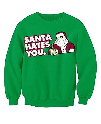 Erwachsene Pullover mit Anti-Motiv Weihnachten Santa im Schornstein ...