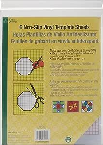 Dritz 3414 Non-Slip Vinyl Template Sheets (6-Count)