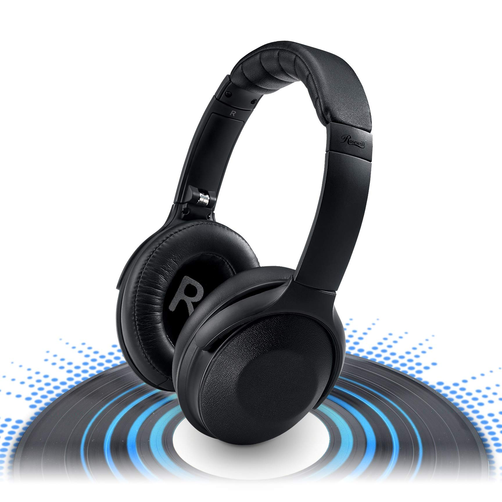 Auriculares Rosewill Cancelacion De Ruido Activa Inalambrico Bluetooth Anc Over-ear Inalambrico Headset Ideal Para Viaje
