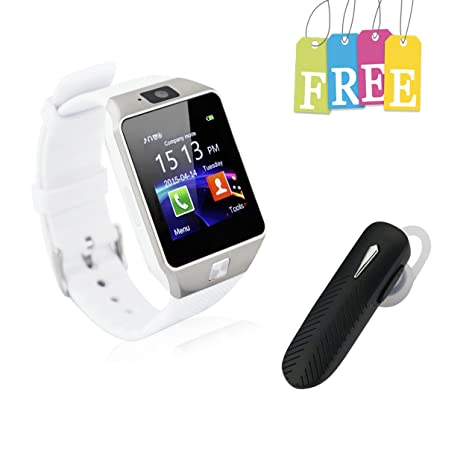Smart Watch With Bluetooth Headset White Amazon In Computers Accessories