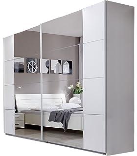 Kleiderschrank Bora VI, Elegantes Schlafzimmerschrank ... | {Kleiderschrank weiß hochglanz mit spiegel 50}