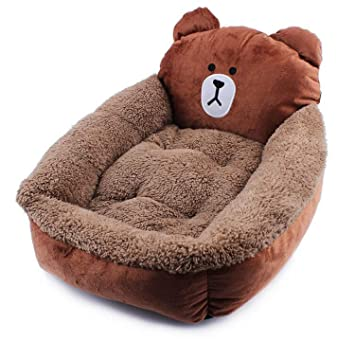 SGT® - Sofá Cama para Perro, diseño de Oso de Dibujos Animados, Esponja