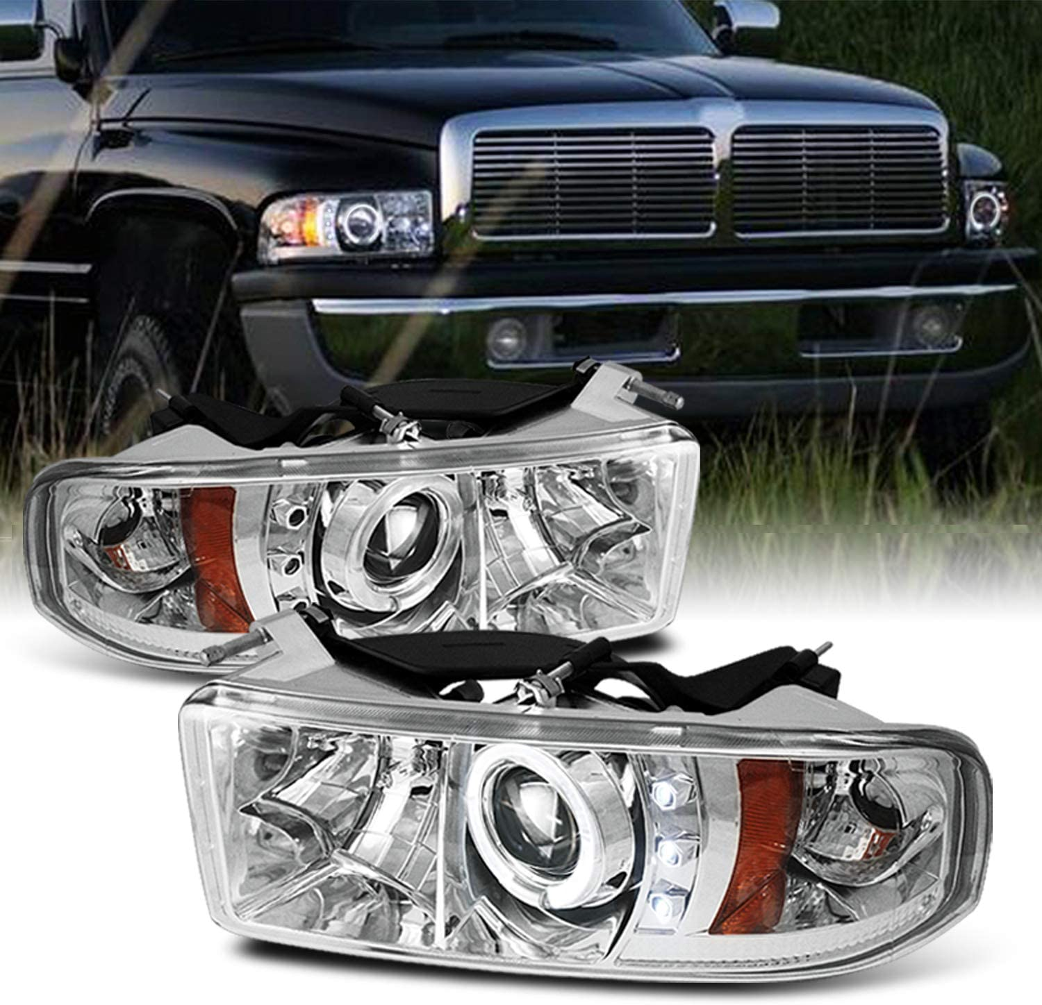 Driver side WITH install kit 6 inch -Chrome LED 2010 Volvo VN630-POST Post mount spotlight