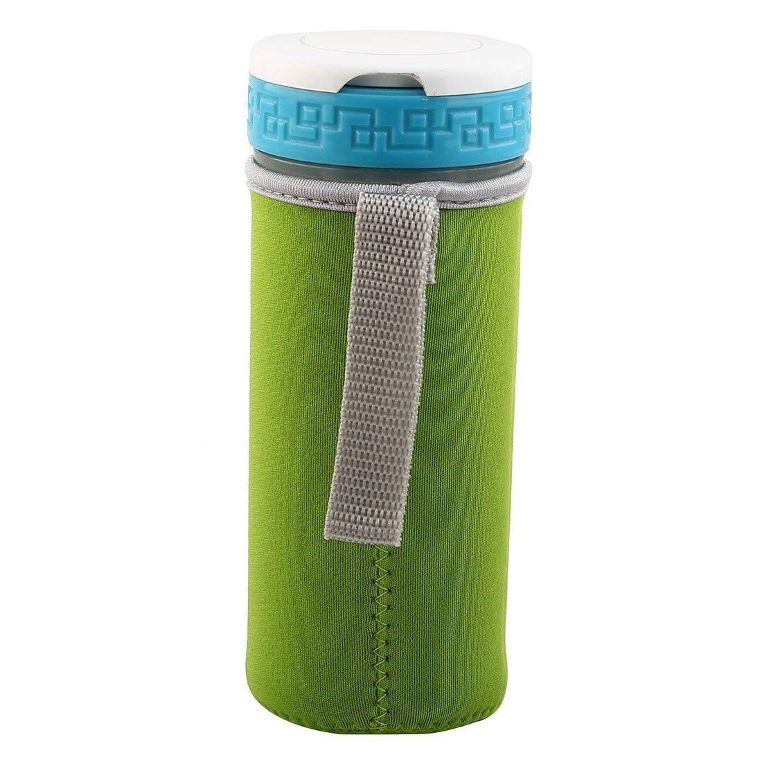Amazon.com: eDealMax Spandex Inicio a prueba de calor de la botella contra escaldaduras antideslizante de cristal taza de la taza de la manga verde: Kitchen ...