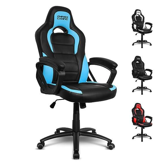 Empire Gaming - Sillón Gamer Racing 500 serie Azul - Reposabrazosultracómodos y mullidos: Amazon.es: Hogar