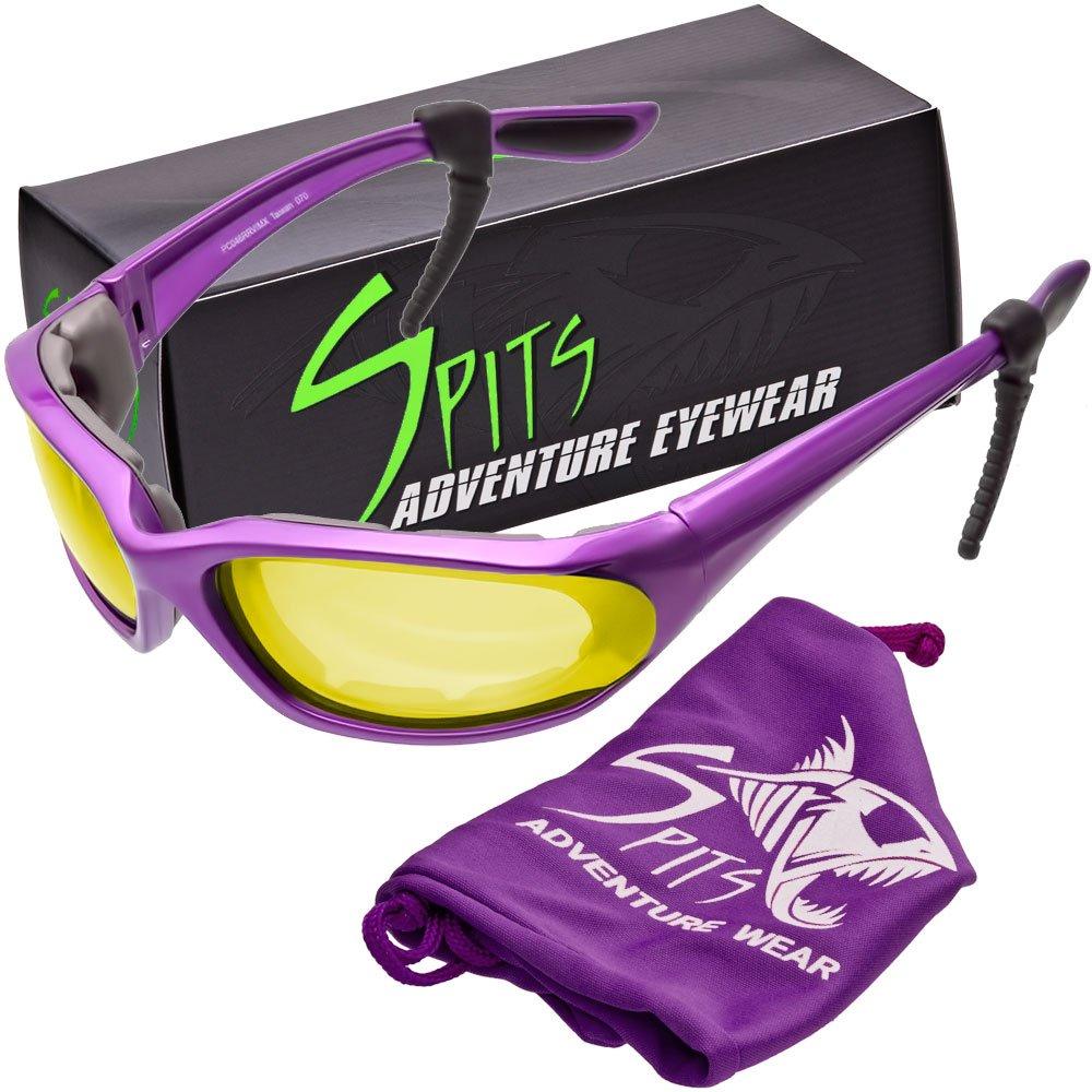 Kickstand II Foam Padded Sunglasses - Small Purple Frame - Yellow Mirrored Lenses