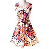 2018 Summer Dress Size Vest Dress Women Printed Vestidos De Fiesta Sleeveless