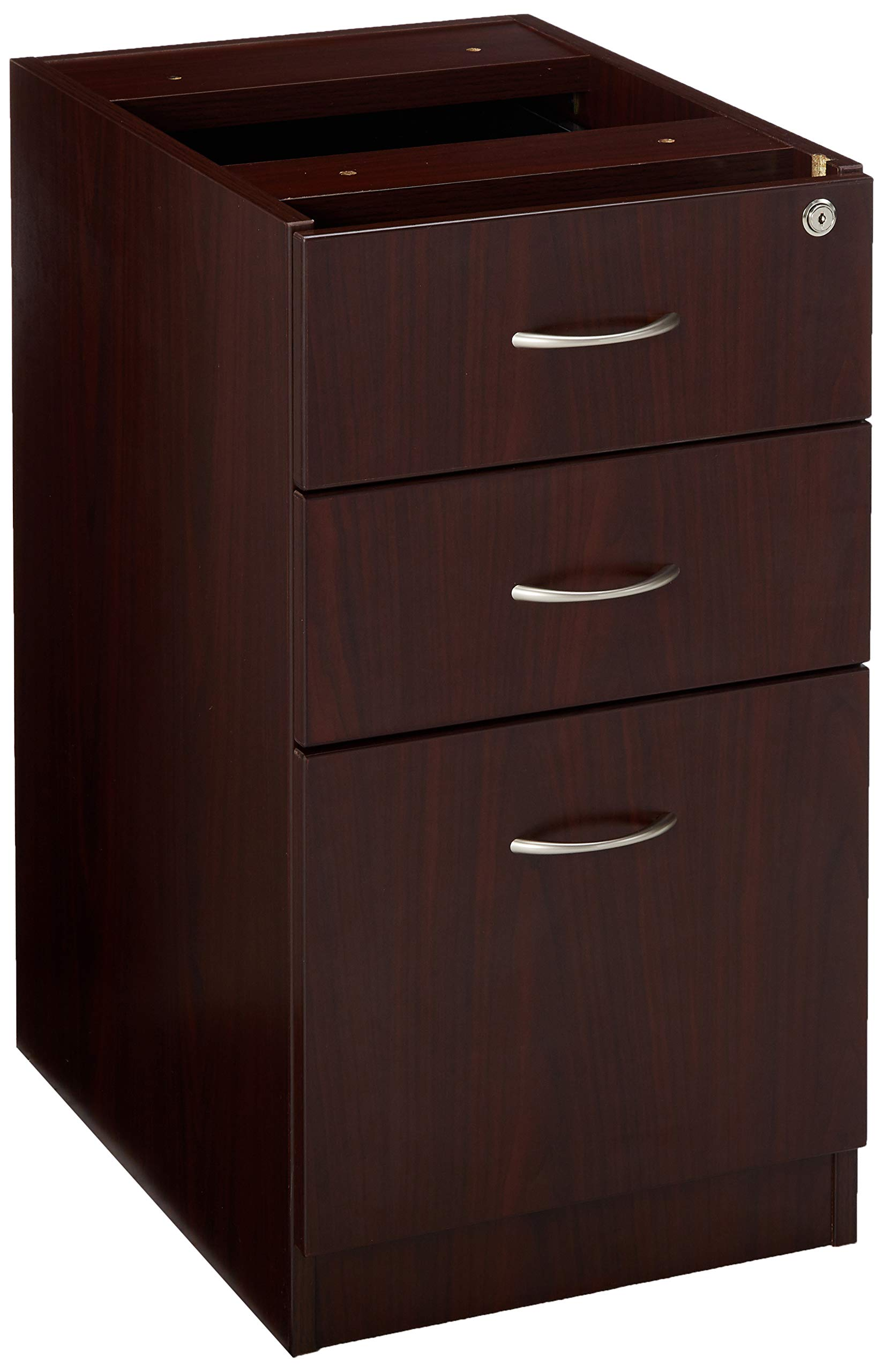 Lorell LLR69603 69000 Series Free Standing Fixed Pedestals, Mahogany by Lorell