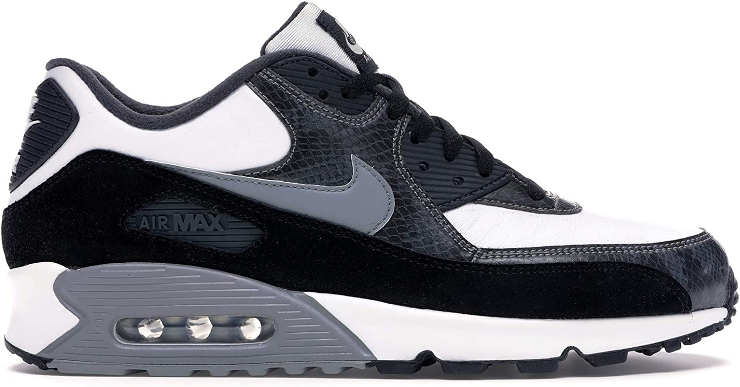 Amazon Com Cd0916 100 Nike Air Max 90 Python White Particle Grey Anthracite Fashion Sneakers