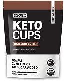 Evolved Chocolate   Hazelnut Keto Cups   Keto, Vegan, Paleo, No Sugar, Organic Dark Chocolate Cups   1 pouch (7 cups)