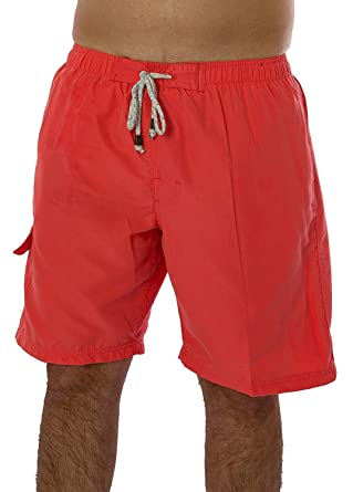 52aac6b013 Exist Men's Solid Color Swimwear 100% Polyester Quick Dry Board ...