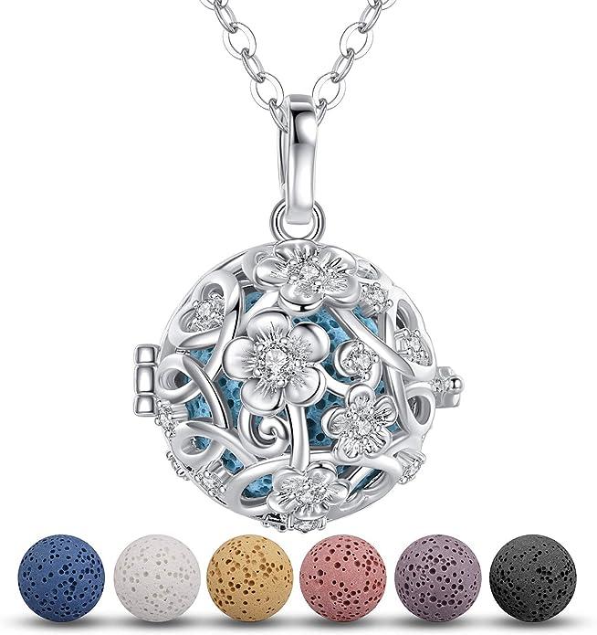 Lava Stone Aromatherapy Diffuser Wild Hope Designs Brass Semi Circle and Lava Rock Necklace for essential oils