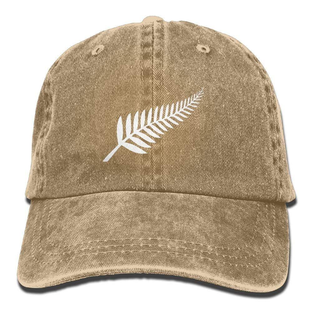 JTRVW Cowboy Hats New Zealand Maori Fern Adjustable Cotton Hat
