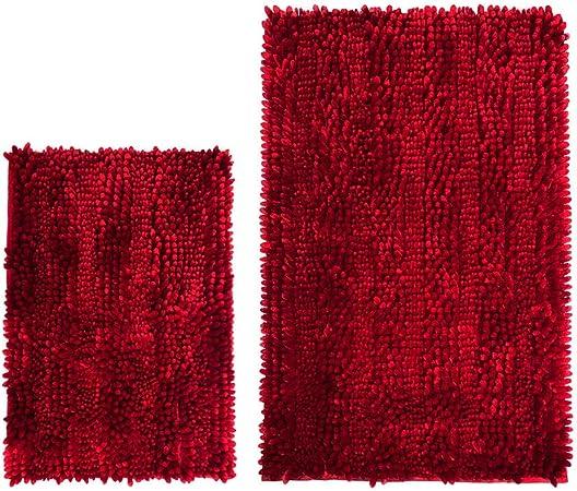 Amazon Com Cosyroom Bath Set 2 Piece Microfiber Bathroom Rugs Extra Soft Absorbent Luxury Butter Chenille Bath Mats Non Slip Shower Mat Carpet Floor Rug Machine Washable 2 Pack 16 X 24