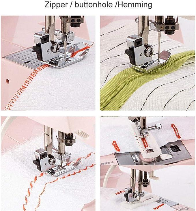 Mini máquina de coser portátil, con mesa de luz y extensión, 13 ...