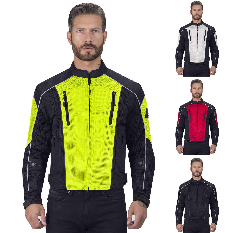 Viking Cycle Warlock Motorcycle Mesh Jacket for Men Green