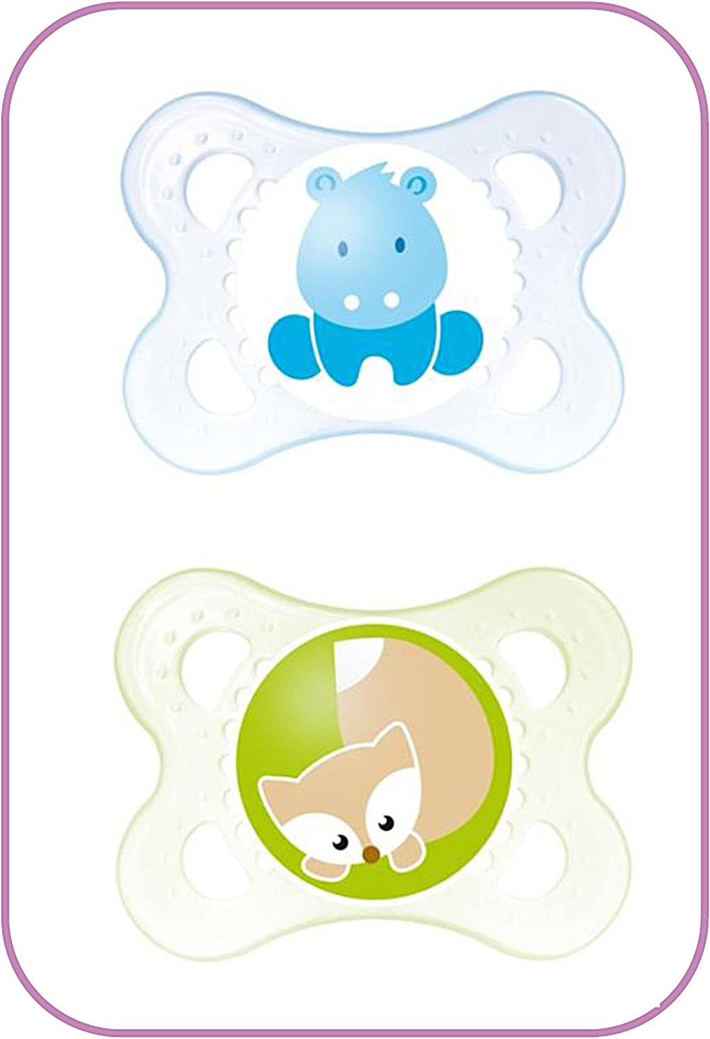 MAM Air Soother 6 Boy/'s Colours mths 2 Pack