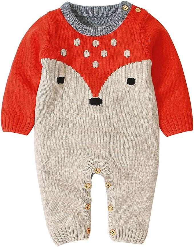 Baby Strampler Langarm Baumwolle Overall Einteiler Spielanzug Weihnachten