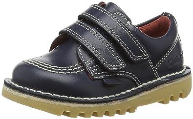 Kickers Kick Lo Boys Navy Leather Shoes 25 M EU/8.5 M US Little Kid