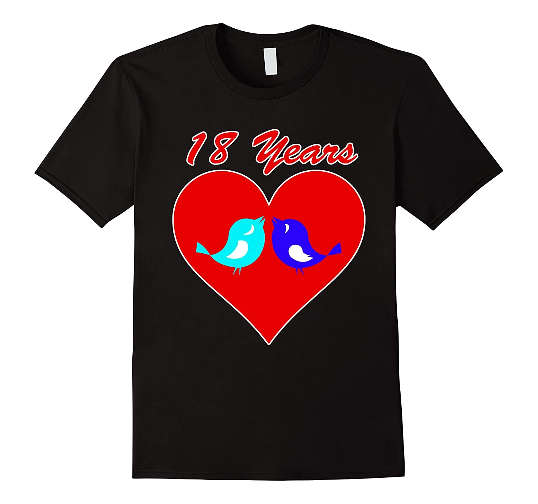 18th Wedding Anniversary TShirt Love Bird Celebrate Marriage-ANZ