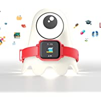 (Bundle, Red Bundle) - Octopus by JOY Kids Smartwatch Teaches Good Habits and time (Companion Bundle, Red)