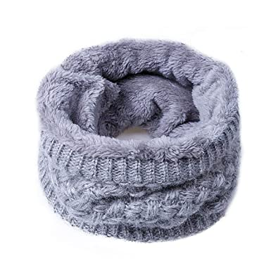 Peng Sheng Colorful Unisex Winter Thick Knitted Snood Scarf Cosy Woollen Loop Infinity Scarf
