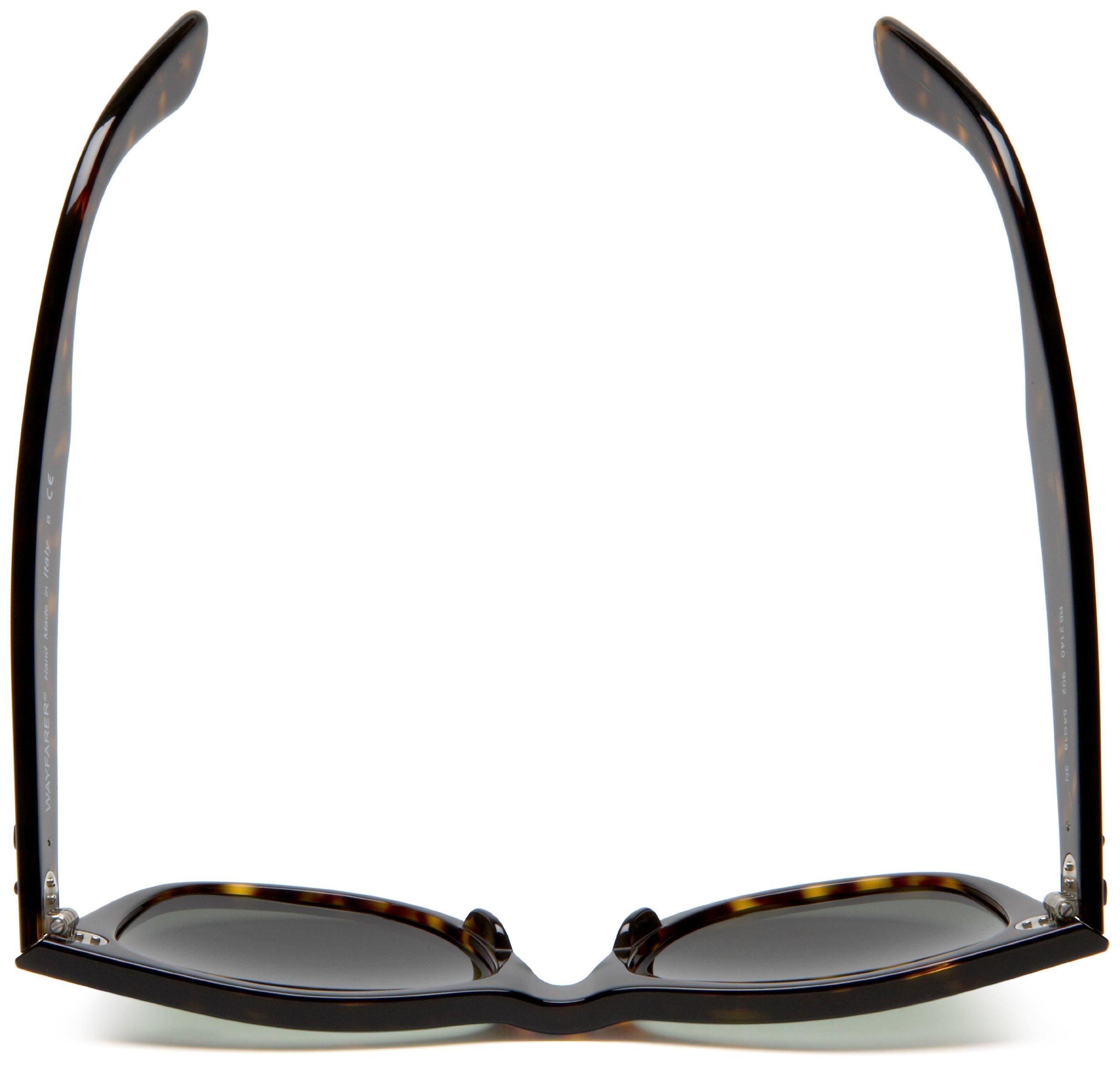 Ray-Ban, RB2140 Original Wayfarer Sunglasses, Unisex Ray-Ban Glasses, 100% UV Protection, Non-Polarized, Reduce Eye Strain, Lightweight Acetate Frame, Prescription-Ready Lenses, 54 mm Frame by Ray-Ban (Image #5)