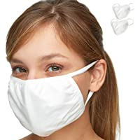 THE PREMIUM EVERYDAY FACE MASK – Debrief Me - (2) Masks 3X Powerful Protection w/Superior AntiPollution Melt Propylene & StayCool Cotton – Ultra-Comfortable, Reusable, Portable, Foldable Lightweight