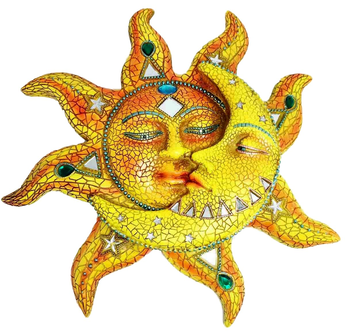 Amazon.com: Beautiful Mosaic Celestial Sun and Moon Day Surrendering ...