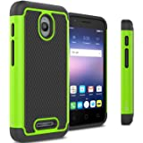 Alcatel Dawn Case, Alcatel Streak Case, Alcatel Ideal Case, CoverON [HexaGuard Series] Slim Hybrid Hard Case for Alcatel One touch Dawn – Green (Not Fit Ideal Xcite)