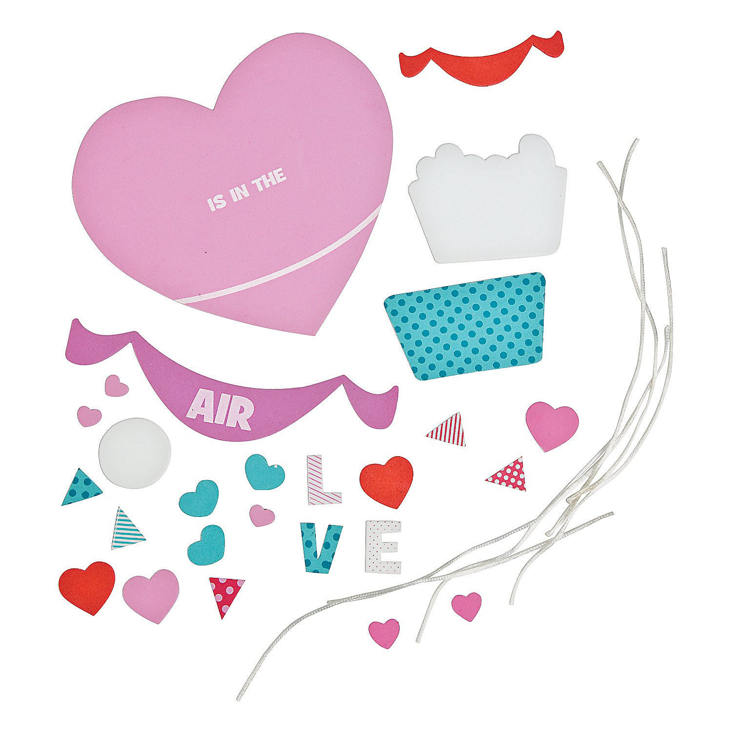 Set of 12 Sign Craft Kit Love Is In The Air