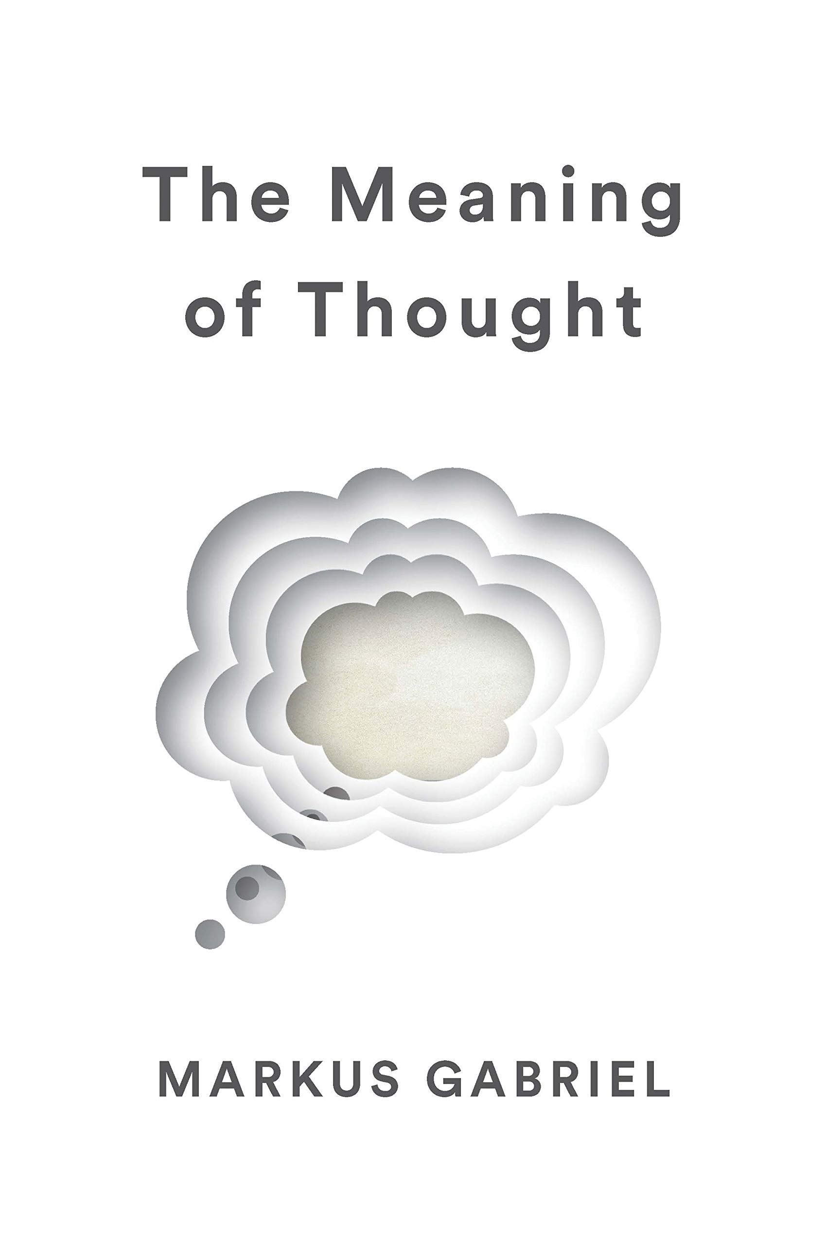 The Meaning of Thought  Gabriel, Markus, Englander, Alex Amazon ...