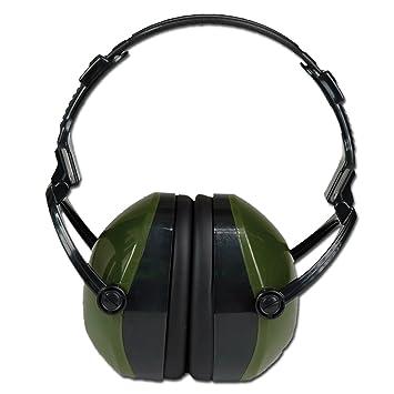 Casco antiruido Verde protección anti ruido PLEGABLE