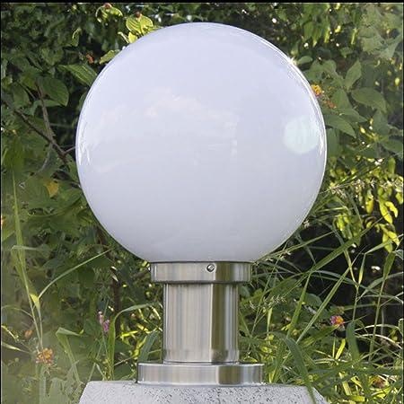 Pumpink Bola forma al aire libre chapiter luz jardín valla parque pilar iluminación paisaje columna lámparas (Color : A, tamaño : 25cm): Amazon.es: Hogar