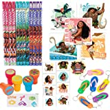 Disney Moana Party Favour Pack Supplies Themed Pack includes Pencils, Stickers, Stampers, Tattoos, and Keychains