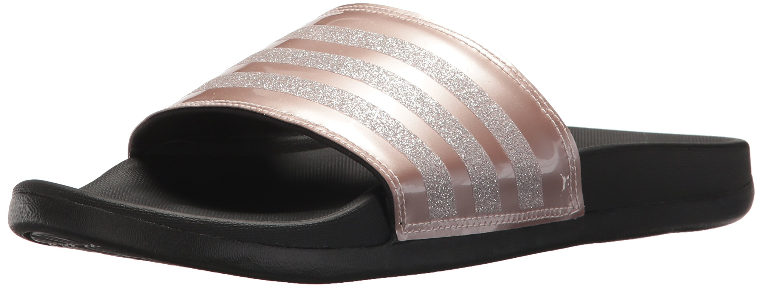 adidas Performance Women's Adilette CF+ Explorer W Sport Sandal, Vapour Grey Met, Vapour Grey Met.Fabric, Core Black, 7 M US