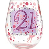 Enesco, Stemless Glass 21 by Lolita
