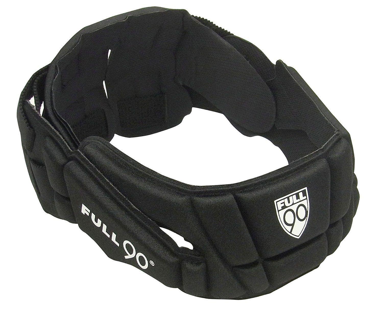 Full 90 Sports PREMIER Performance Soccer Headgear, Black, Small/Medium