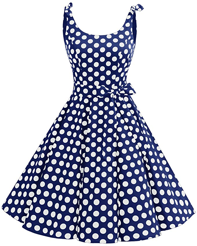500 Vintage Style Dresses for Sale | Vintage Inspired Dresses Bbonlinedress 1950s Bowknot Vintage Retro Polka Dot Rockabilly Swing Dress $28.99 AT vintagedancer.com