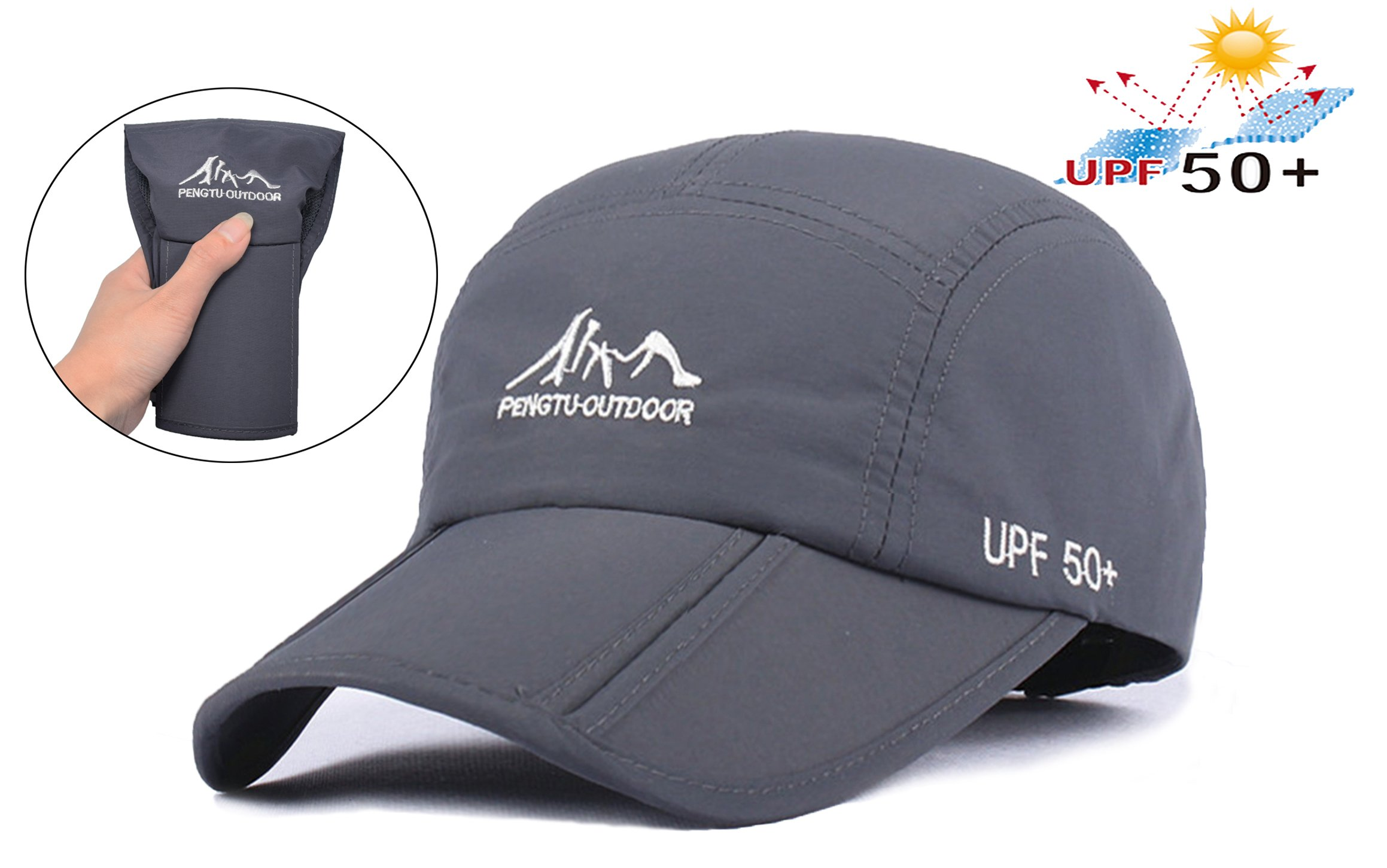 ELLEWIN Baseball Cap Quick Dry Travel Hats UPF50+ Cooling Portable Sun Hats  for Sports Golf Running ea30a115b72