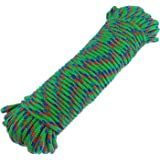 "Diamond Braid Nylon Rope,3/16"" by 100ft Paracord, General-Purpose Utility Rope, Polypropylene Rope, UV Resistant (Green)"