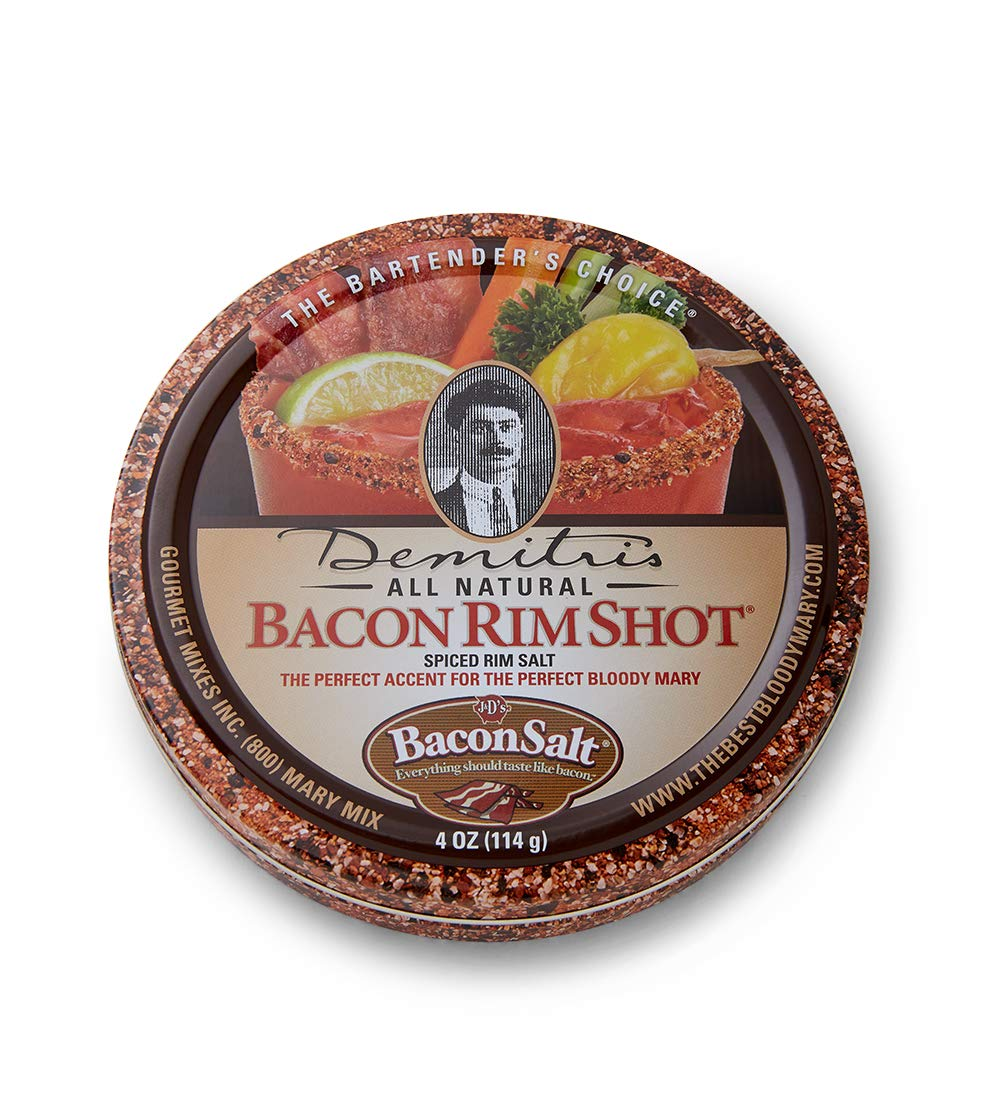 Demitri's Bacon RimShot, Spiced Rim Salt, 4 Ounce Tin : Bloody Mary Cocktail Mixes : Grocery & Gourmet Food