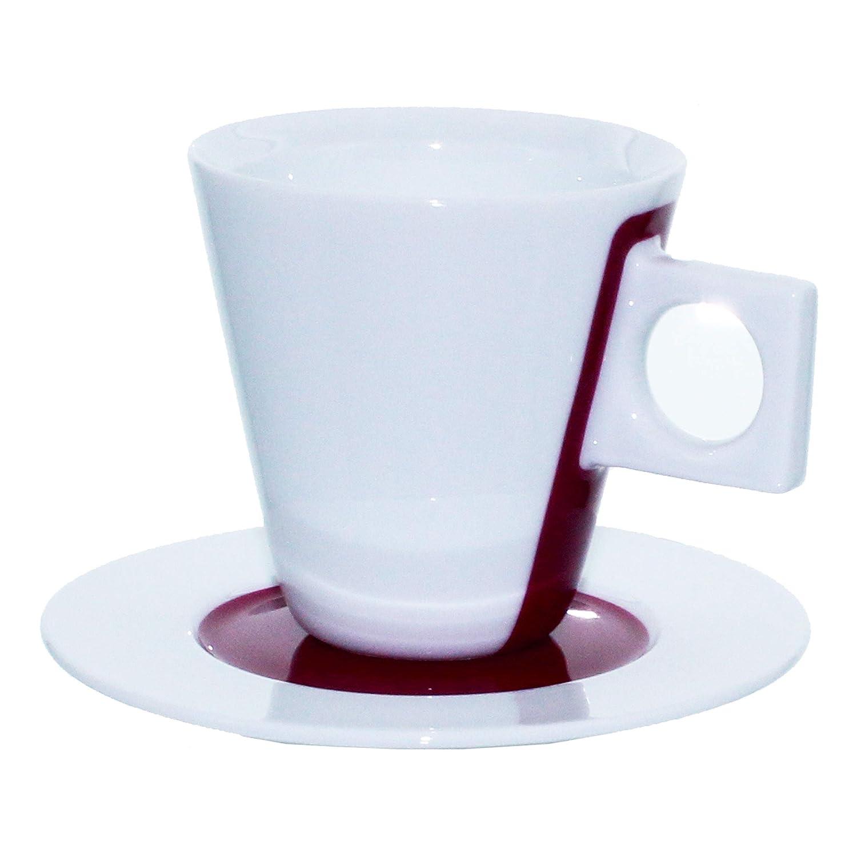 Porcelaine Rouge Lot de 2 // 4 Pcs. Tasse /à Caf/é 5 cl Nescaf/é Dolce Gusto Tasse /à Expresso