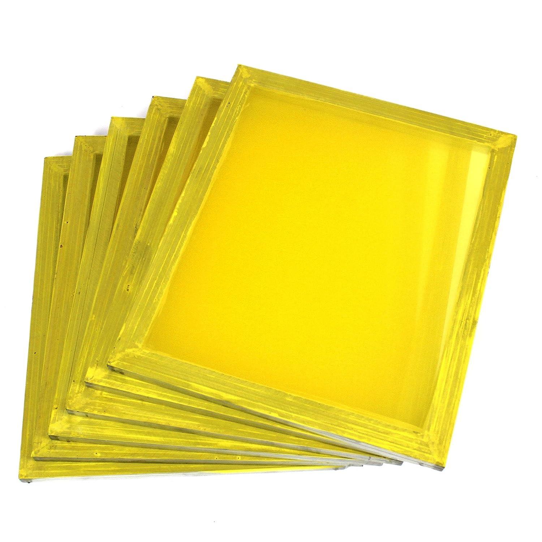 6 Aluminum Silk Screen Printing Press Screens 355 Yellow Mesh 20'x24' Commercial Bargains Inc