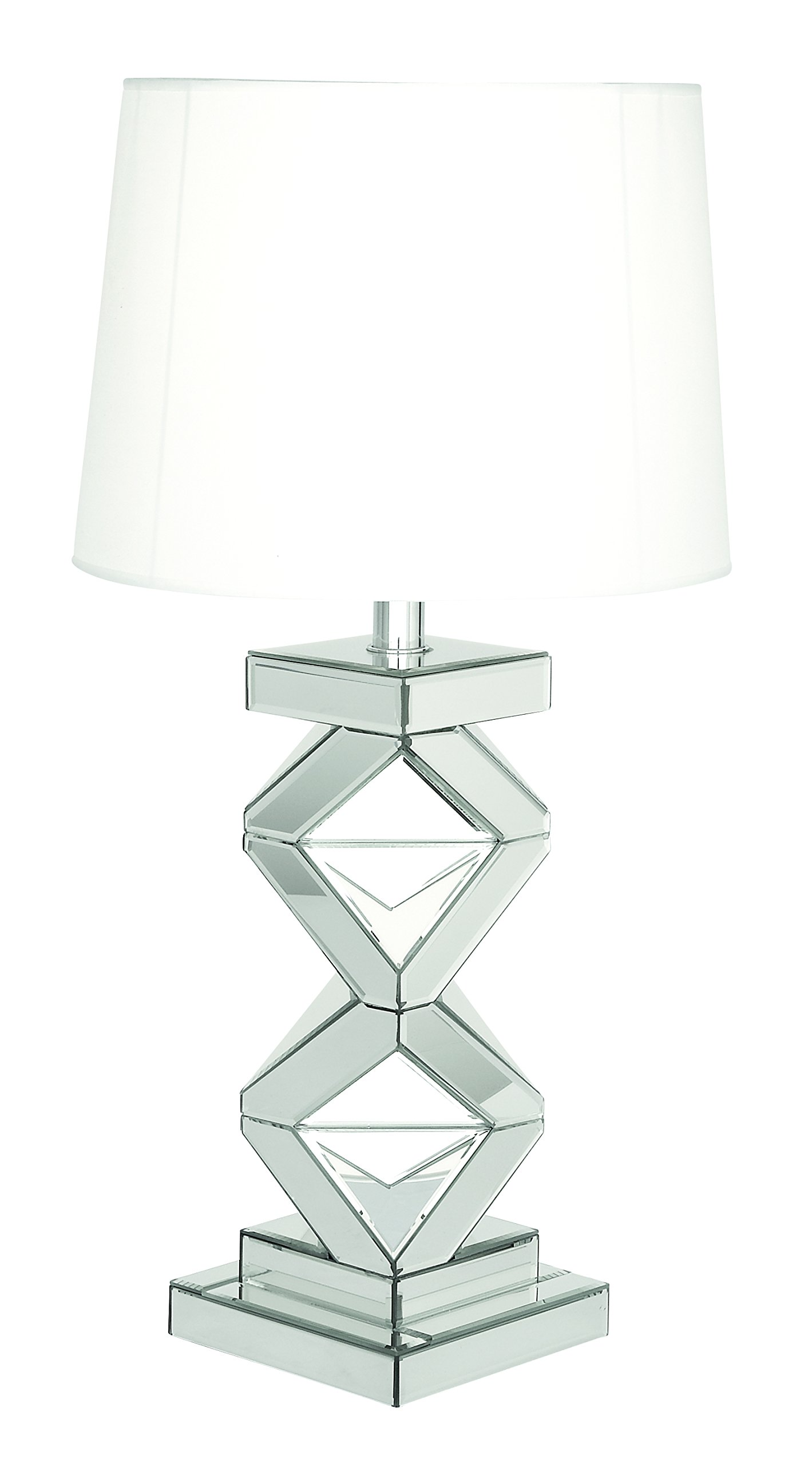Deco 79 87371 Glass Mirror Table Lamp, 29''