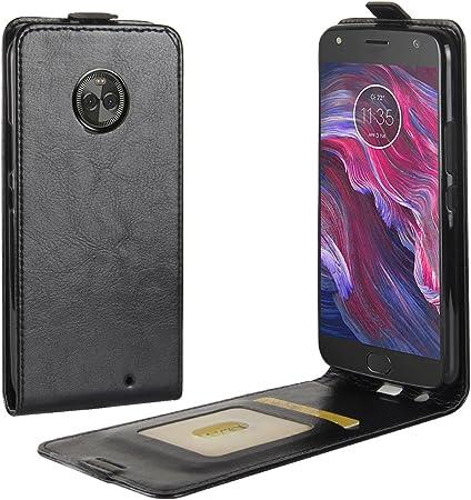 Funda® Capirotazo Billetera Funda para Motorola Moto X4 (Negro): Amazon.es: Electrónica